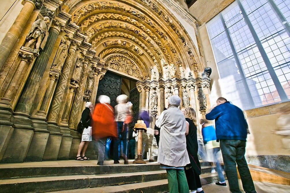 Die Goldene Pforte im Freiberger Dom St. Marien